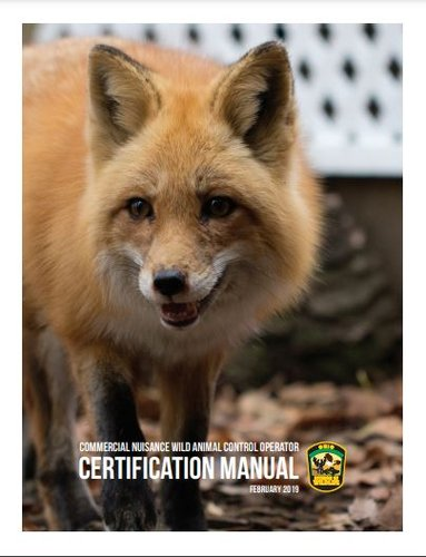 Download The Ohio Nuisance Wild Animal Control Certification Manual PDF Here - The Commercial Nuisance Wild Animal Control Operator License is considered a specialty license. Information regarding this license, including the test, study materials and application can be found at wildohio.gov.