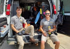 Pictured Here Are Two Bat Removal And Exclusion Specialists From The Cottom's Wildlife Removal Company Of Ohio