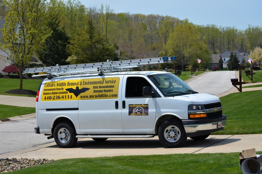 CWR Insulation Service Truck Parked In A Customer's Driveway In Ohio