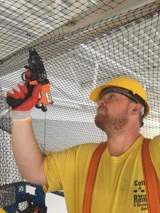 Bird Netting Installation Process