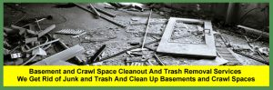 Basement and Crawl Space Cleaning and Clean Out Services for Homeowners in Cleveland and Akron, Ohio.